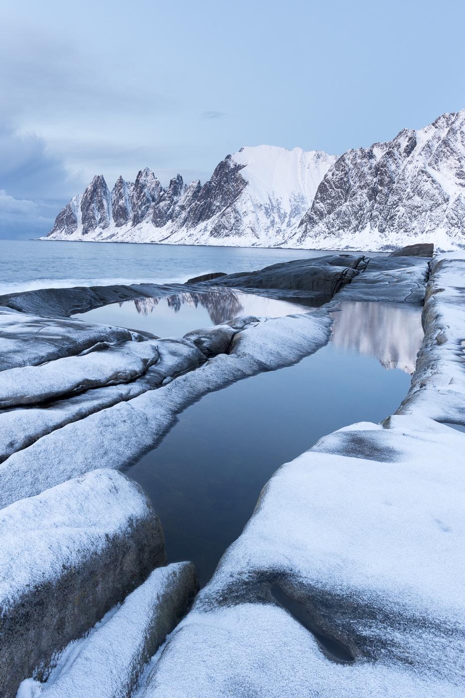 Saupoudrage sur la côte norvégienne