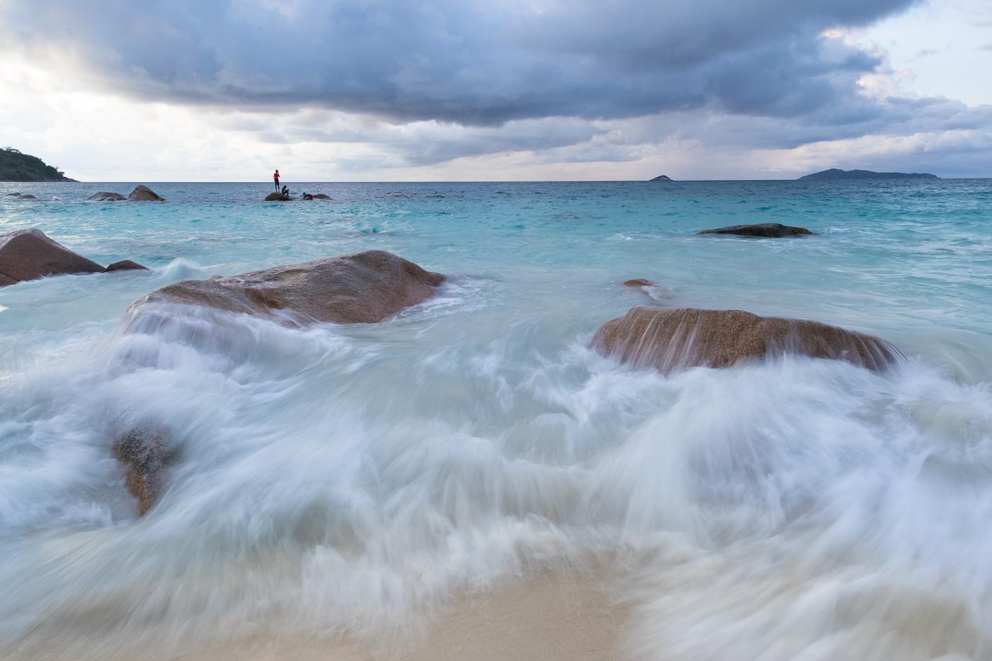 Seychellois à la baignade